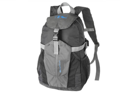 M Wave Deluxe Foldable Backpack 20 Litre Black/Grey