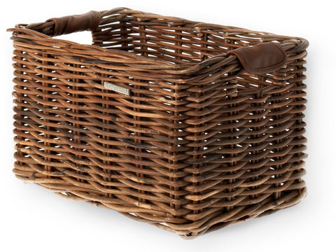 Basil Dorset Luxury Rattan Front Basket Medium 35x24x24 Natural Brown