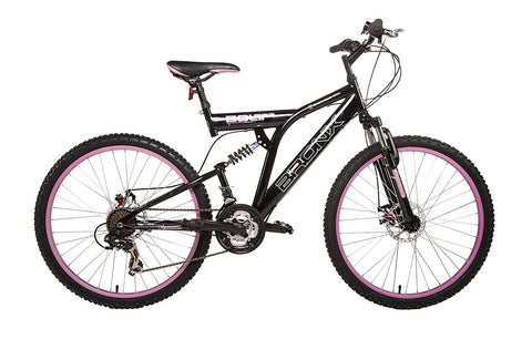 "B Grade Bronx Bolt Ladies 18"" Dual Suspension Dual Disc 21sp Mountain Bike"