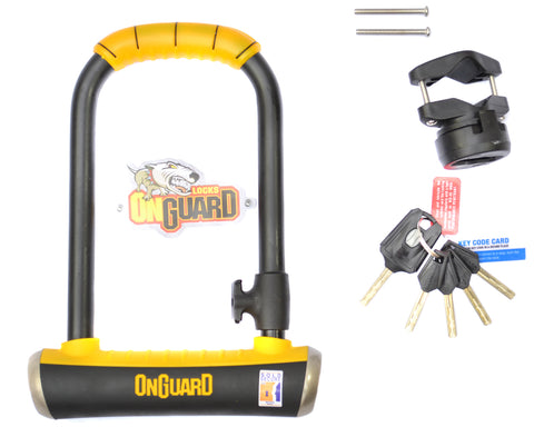 Onguard Brute Std 8001 Lock Shackle U-Lock Gold Secure