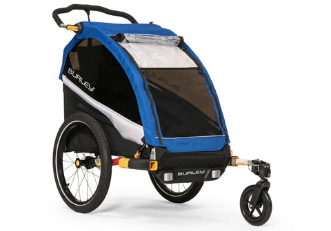 Burley D'Lite Single Child Bicycle Trailer Blue