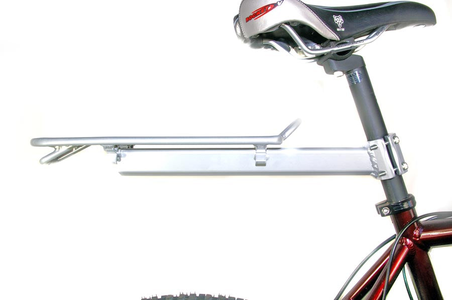 Aluminium Seat Post Carrier Pannier Rack Silver