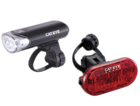 Cateye Front EL135 and Rear TL155 Omni 5 LED Lightset