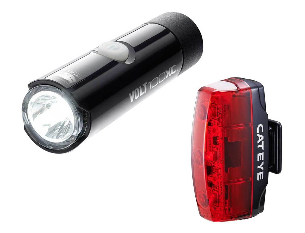 Cateye Volt 100 XC Front and Rapid Micro Rear LED USB Rechargeable Lightset