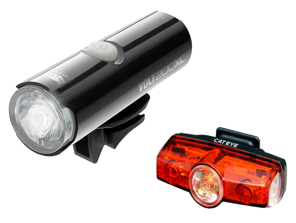 Cateye Volt 200 XC Front and Rapid Mini Rear LED USB Rechargeable Lightset
