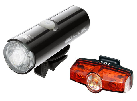 Cateye Volt 400 XC Front and Rapid Mini Rear LED USB Rechargeable Lightset