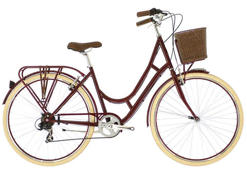 "B Grade 2016 Raleigh Cameo 17"" Women's 7 Speed Classic Lifestyle Bike Burgundy"