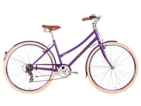 "B Grade 2017 Raleigh Caprice 19"" Ladies Classic Traditional Bike Purple"