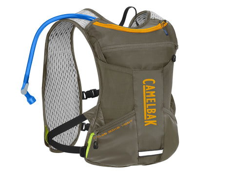 2019 Camelbak Chase 1.5L Bike Vest Hydration Pack in Shadow Grey/Iceland Poppy