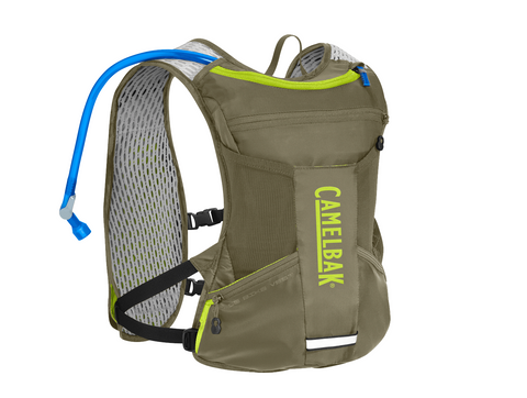 2018 Camelbak 1.5L Chase Bike Vest Hydration Pack in Olive/Lime