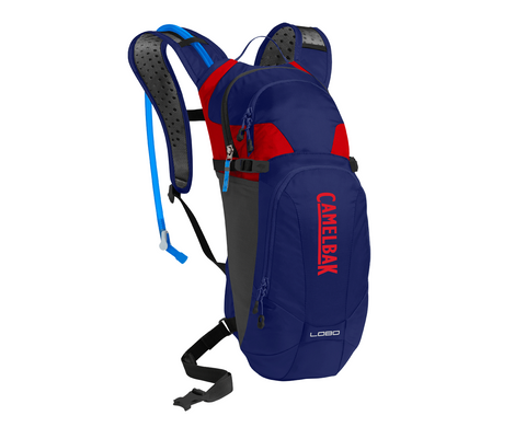 2018 Camelbak 3.0L Lobo Hydration Pack Blue/Racing Red