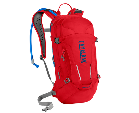 2018 Camelbak 3.0L MULE Hydration Pack in Racing Red/Blue