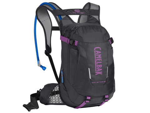 2019 Camelbak 3L Womens Solstice LR 10 Hydration Pack in Charcoal/Light Purple