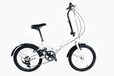 "B Grade Viking Citifold Unisex 20"" Wheel 6 Speed Folding Bicycle White"
