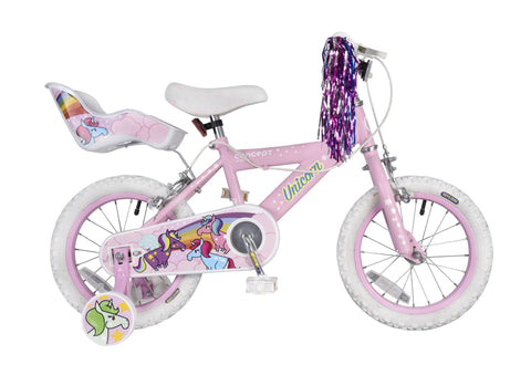 "Concept Unicorn 14"" Wheel Girls Bicycle"