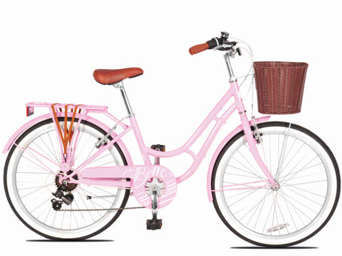 "Concept Belle 24"" Wheel Girls Pink Traditional Bicycle"