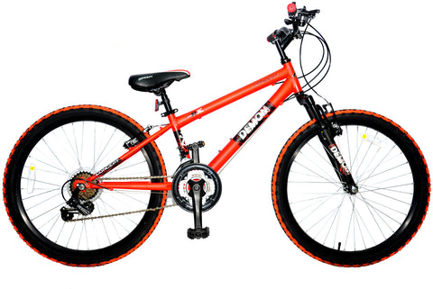 "Concept Demon Boys Mountain Bike 24"" Wheel Orange"