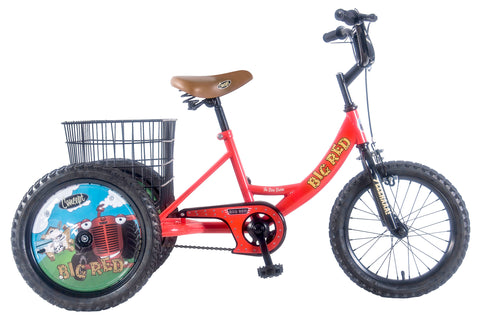 "Concept Big Red 16"" Wheel Boys Trike Red/Black"