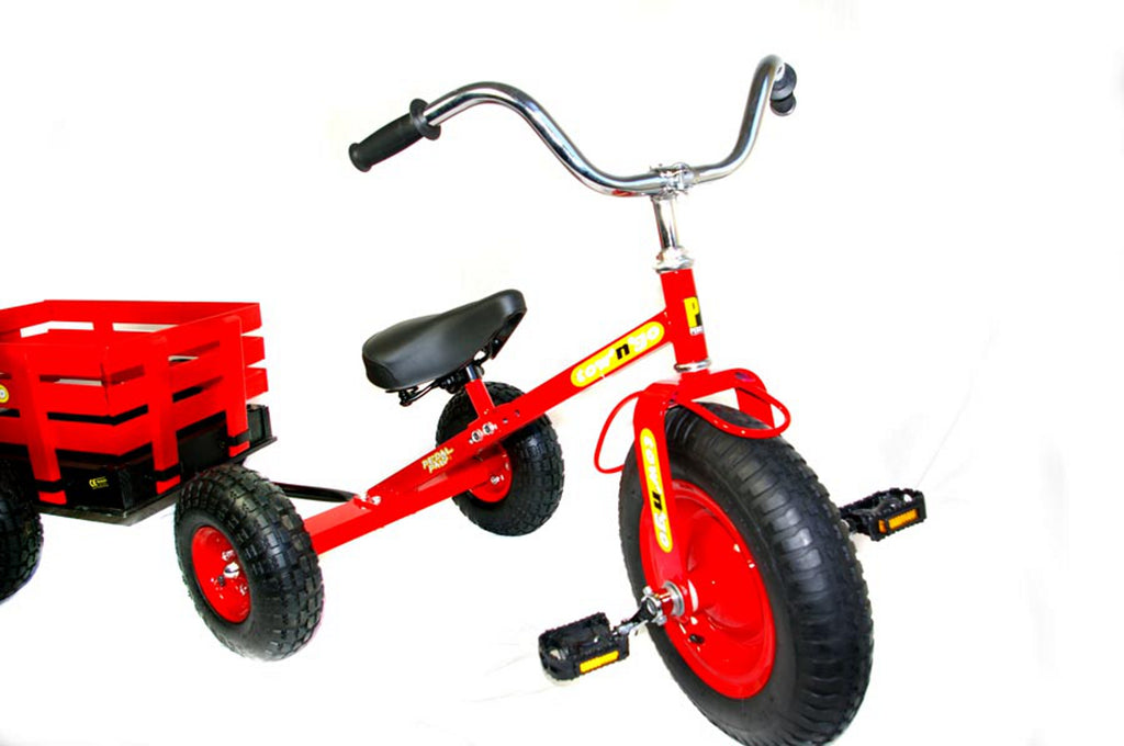 Tow N Go >> B Grade Tow N Go Childrens Trike Tricycle With Trailer Red