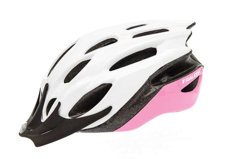Raleigh Mission Evo Cycling Helmet in White/Pink