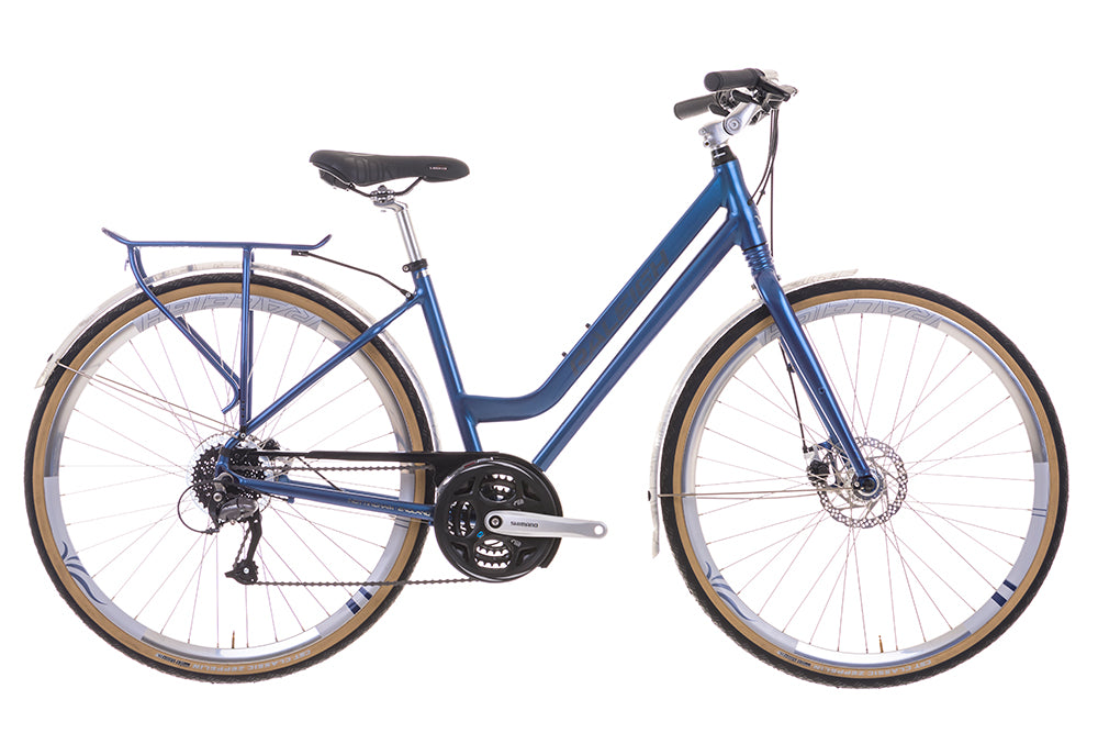 "B Grade 2016 Raleigh Centros 1 Ladies 18"" Aluminium Crossbar Frame City Bike Blue"