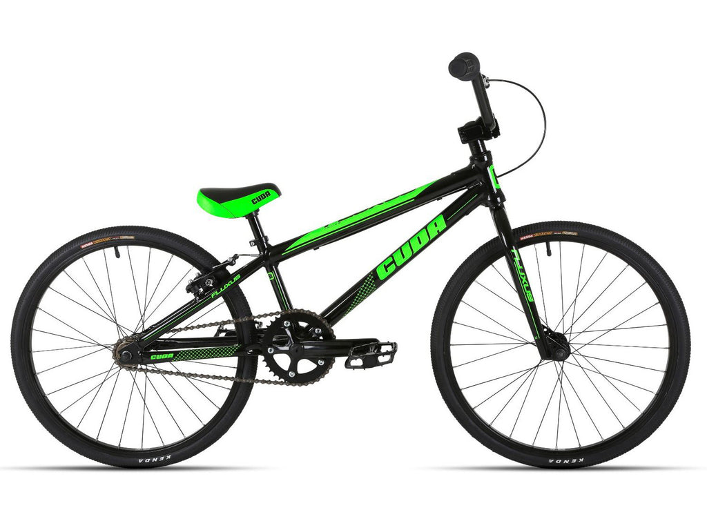 B Grade Cuda Fluxus Junior Race BMX Black/Green 7-9 Years