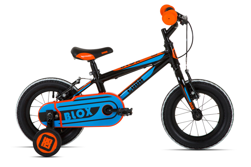 "Cuda Blox 12"" Boys Bicycle Aluminium Black/Blue/Orange"