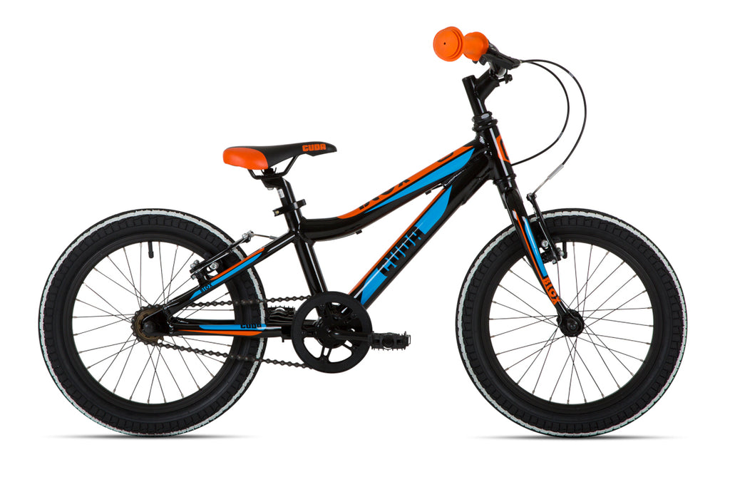 "Cuda Blox 16"" Boys Bicycle Aluminium Black/Blue/Orange"
