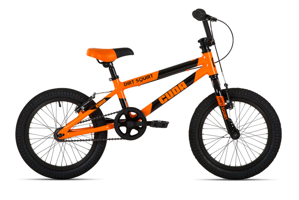"Cuda Dirt Squirt 16"" Boys Bicycle Aluminium Orange/Black"