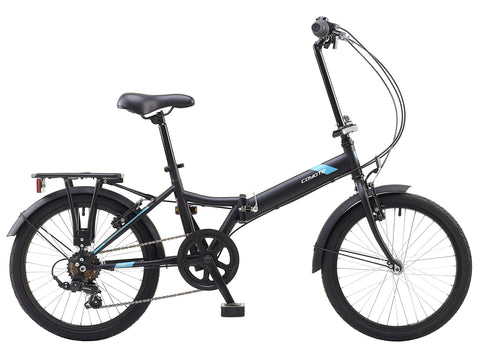 "Coyote Swift 20"" Unisex Folding Bike Matt Black"