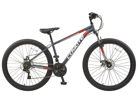 "B Grade Coyote Mirage FS Disc 20"" Gents 650b Wheel Mountain Bike Grey"