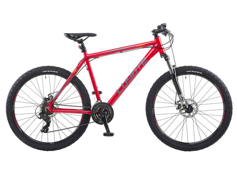 "Coyote Oregon 21sp Disc Gents 21"" Red 650B Mountain Bike"