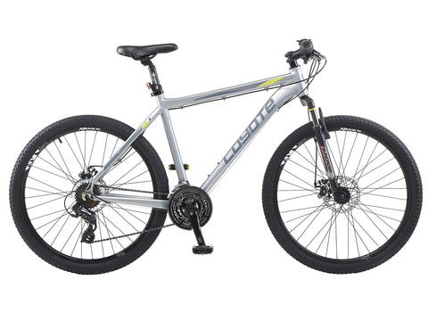 "Coyote Nebraska 21sp Disc Gents 19.5"" Silver Mountain Bike"
