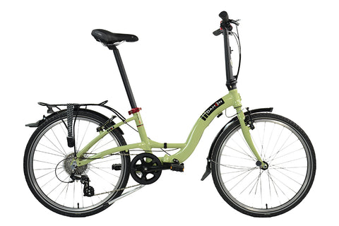 "2017 Dahon Briza D8 Folding Bike with 24"" Wheels in Green"