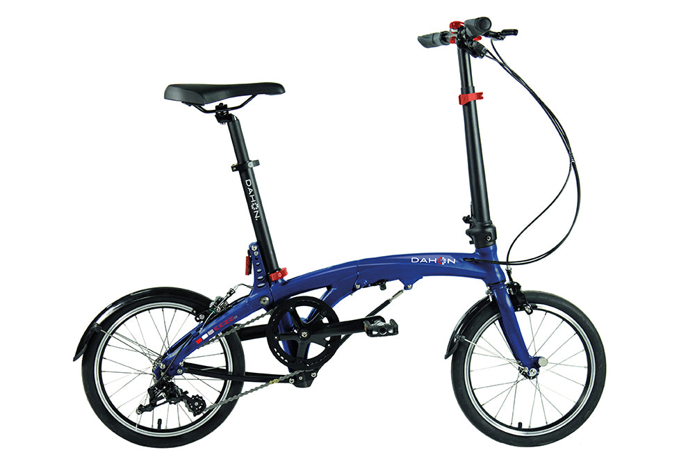 B Grade 2017 Dahon EEZZ Folding Bike D3 Speed Blue 9.7 Kg