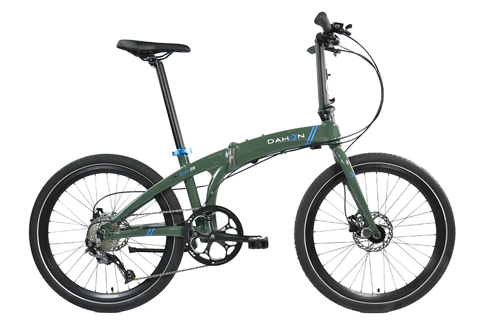 "B Grade 2017 Dahon IOS D9 Folding Bike with 24"" Wheels in Khaki"