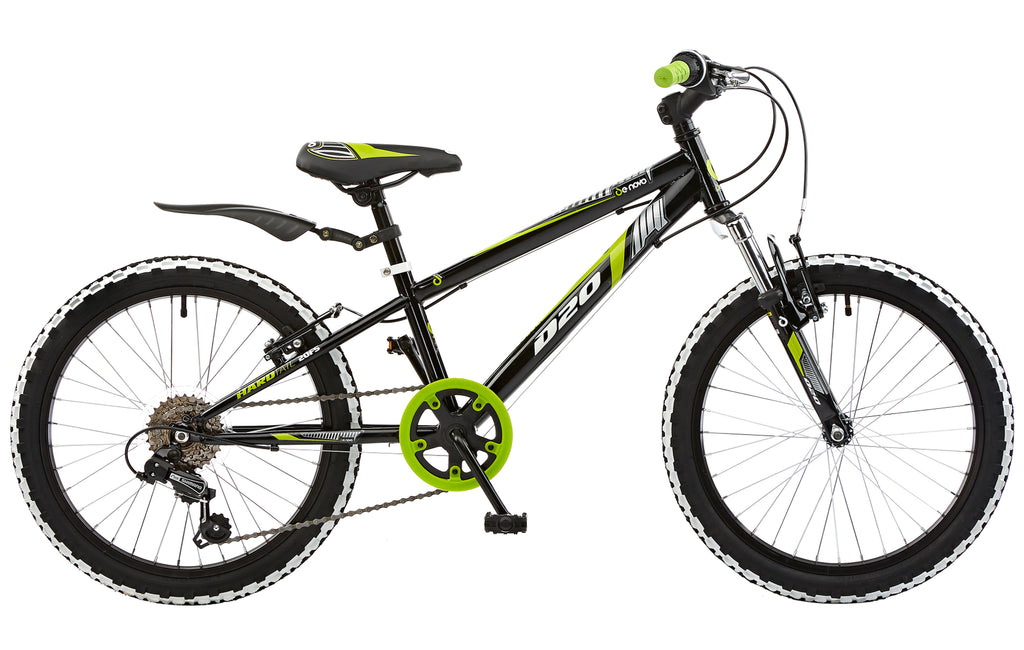 "De Novo D-20 20"" Wheel Boys Mountain Bike Black/Green"