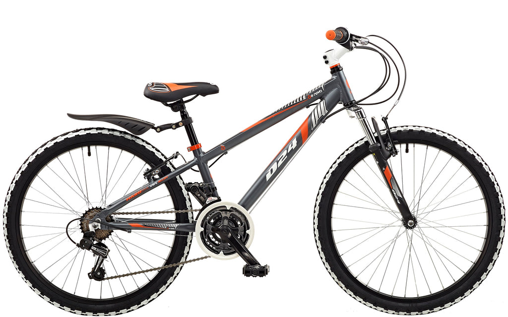 "De Novo D-24 Boys 24"" Wheel FS Alloy Mountain Bike"