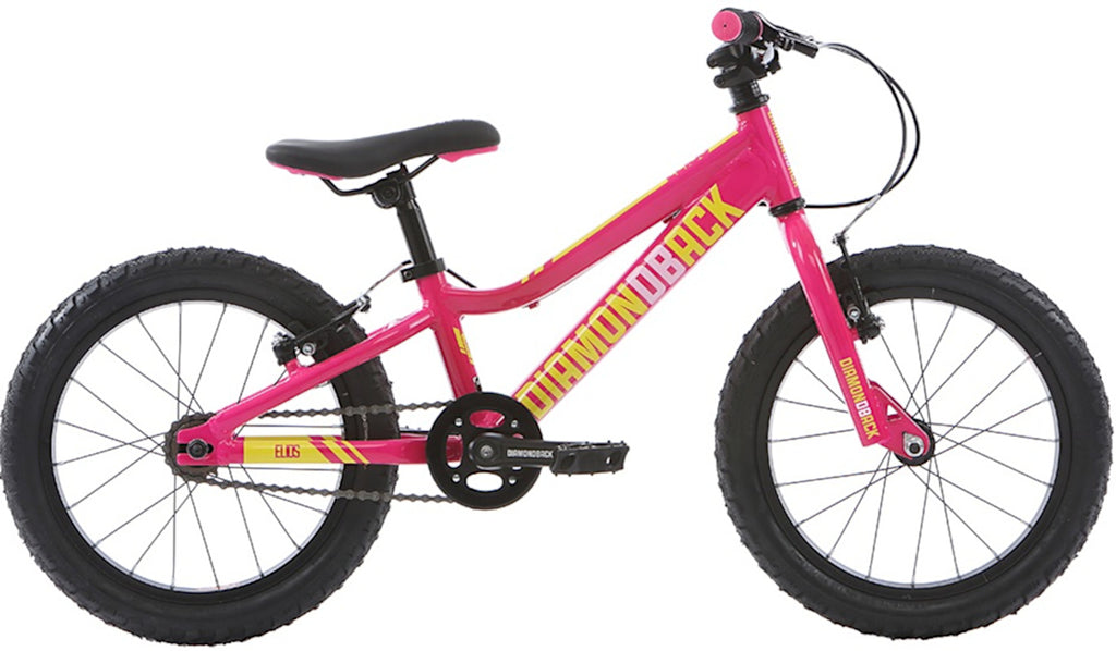 "2018 Diamondback Elios HT G 16"" Wheel 8"" Frame Mountain Bike Pink"