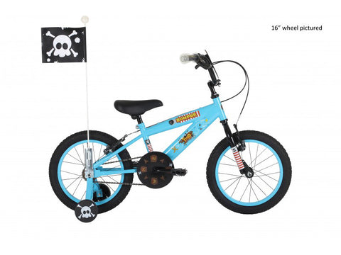 "B Grade Bumper Pirate Boys 14"" Mountain Bike 4 to 6 years"