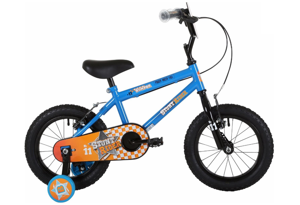 "Bumper Stuntrider 14"" Blue/Orange BMX Bike 4 to 6 years"