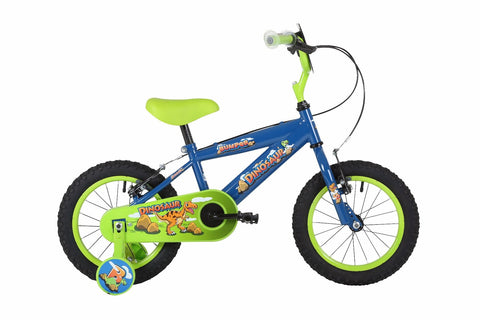 "2018 Bumper Dinosaur 14"" Blue Boys Pavement Bike Blue"