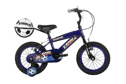 "2018 Bumper Goal 16"" Blue Boys Pavement Bike Blue/Black"