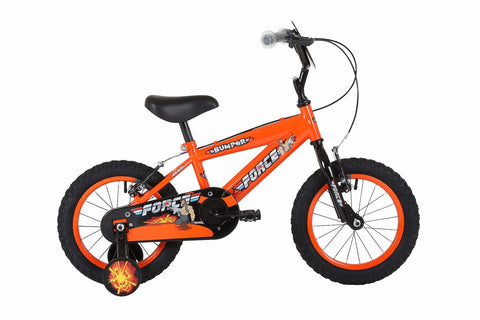 "Bumper Force Boys 16"" Mountain Bike Orange/Black"