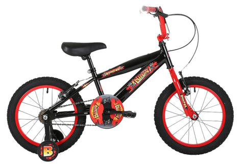 "Bumper Ninja Boys 16"" Pavement Bike Black/Red"