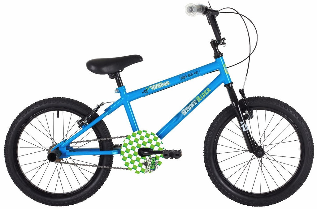 "Bumper Stunt Rider 18"" Blue/Black Boys BMX Bike"