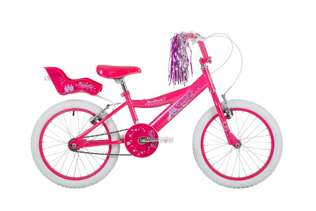 "Bumper Sparkle 18"" Girls Pavement Bike Pink"