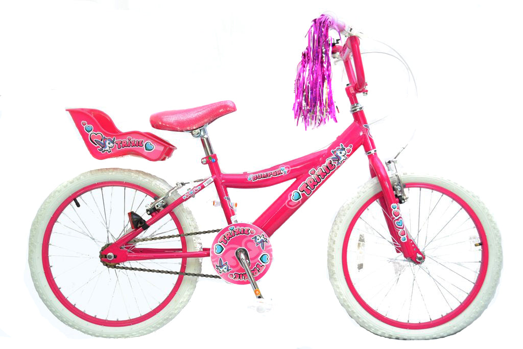 "Bumper Trixie 20"" Wheel Girls Mountain Bike in Pink"