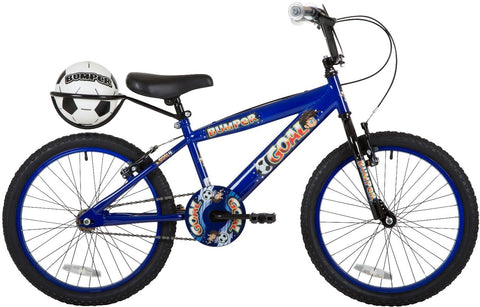 "2018 Bumper Goal 18"" Blue Boys Pavement Bike Blue/Black"