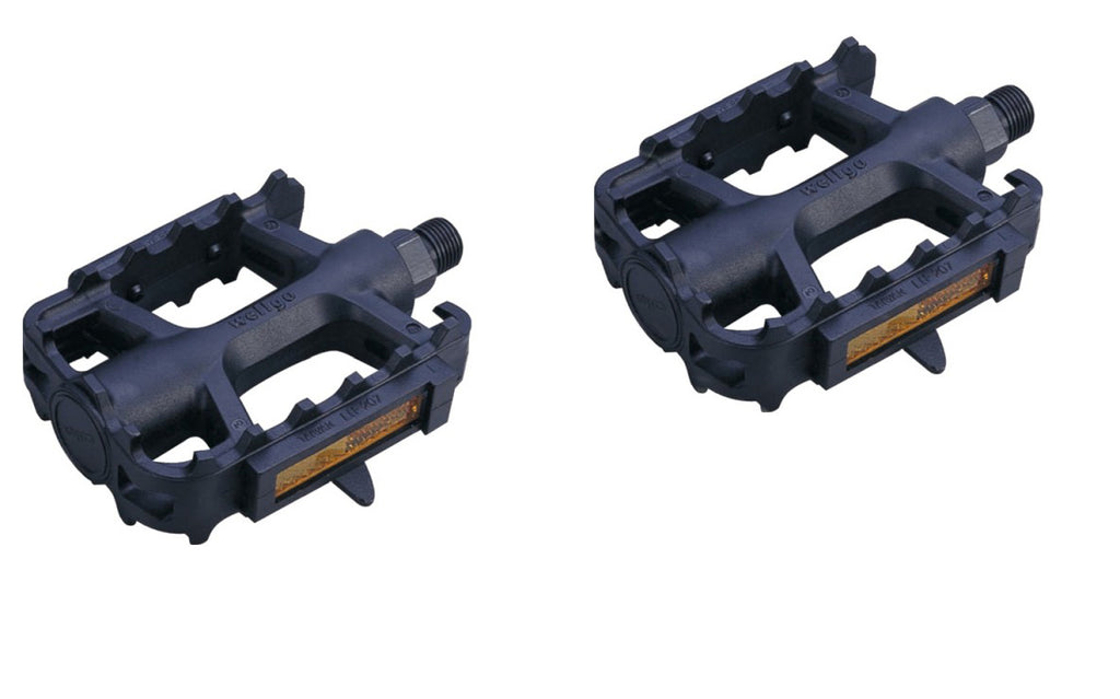 "ETC 1/2"" Black Resin MTB Pedals by Welgo"